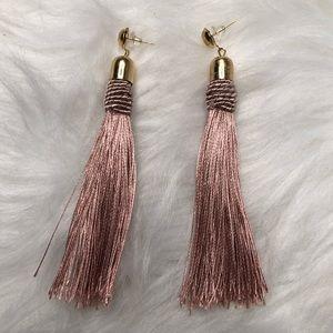 Blush fringe earrings